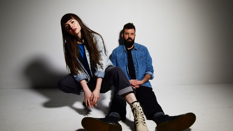 Amber Renee and Graham Marsh are the alt-pop duo CLAVVS, who met at a house party in Brooklyn and started making music together soon after.