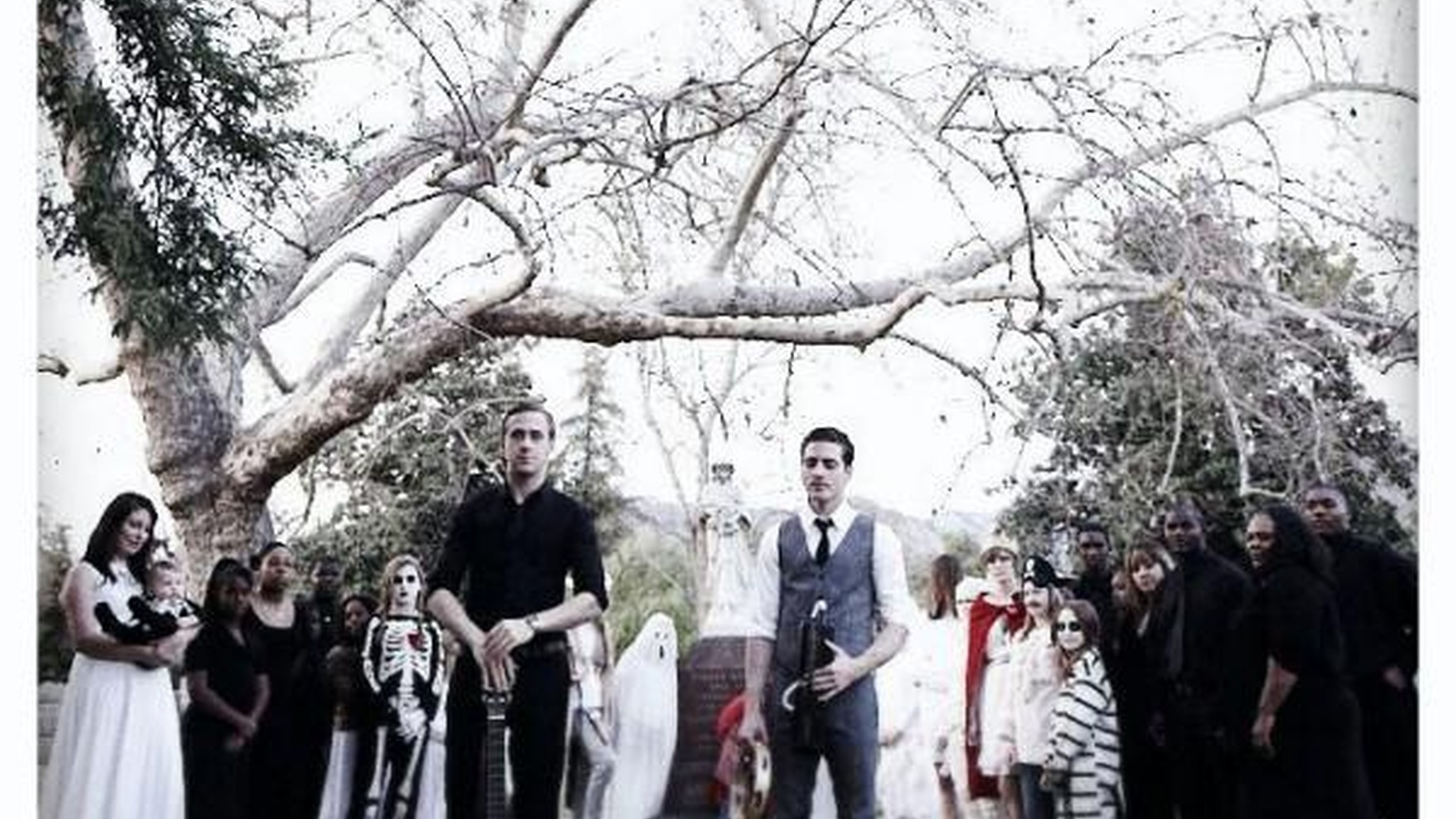 """Bonding over a mutual appreciation of ghosts and all things haunted, Ryan Gosling and Zach Shields created Dead Man's Bones. Today's Top Tune is """"Pa Pa Power (Gospel Remake)."""" It features Silverlake's Conservatory Children's Choir and was captured on a 7-inch recording by IAMSOUND as part of their LA Collection showcasing local talent."""