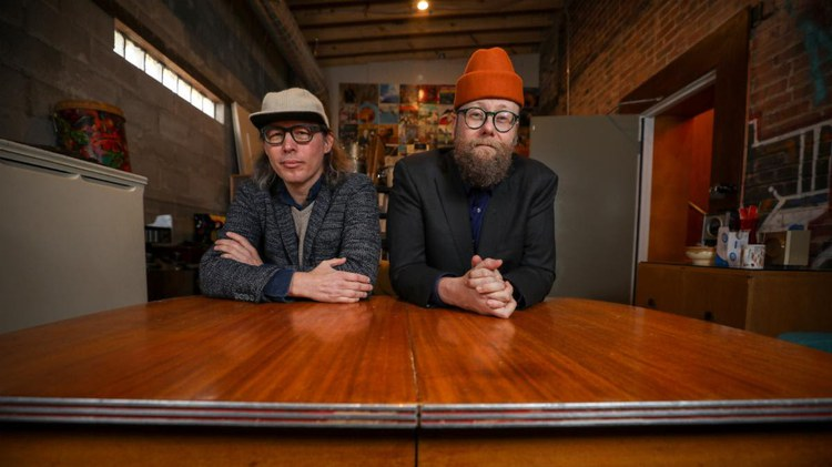 """Soul Coughing's Mike Doughty and longtime collaborator Andrew """"Scrap"""" Livingston merge their talent as Ghost of Vroom with their self-titled album."""
