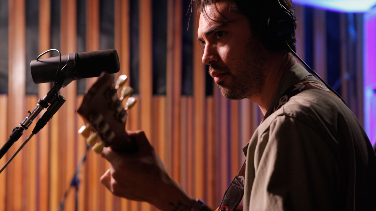 """""""Vintage rock 'n' soul whirlwind"""" Hanni El Khatib is an impressive performer and he didn't disappoint when he returned to KCRW studios to perform songs from his latest album."""