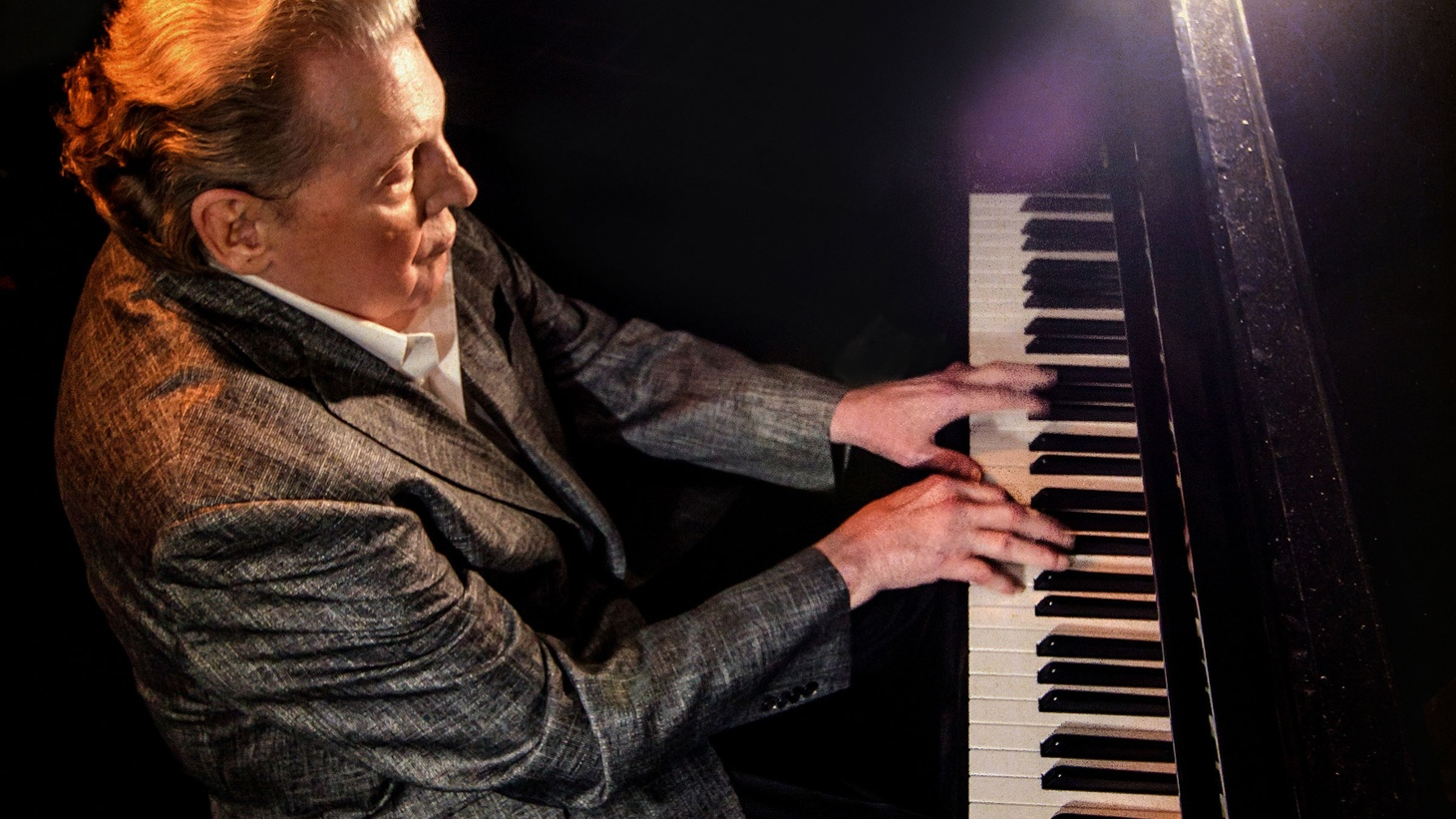 "Jerry Lee Lewis, aka The Killer, visits some of his favorite songs by different songwriters on his new album, Rock & Roll Time. He's joined by Daniel Lanois and Doyle Bramhill II, as well as co-producer Jim Keltner, on an obscure Bob Dylan track called ""Stepchild."""