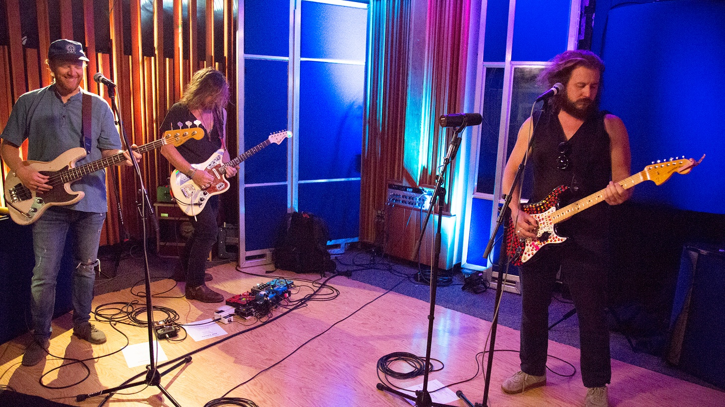 On a recent visit to MBE, My Morning Jacket frontman and guitar hero Jim James brought a full band to our studios to play songs from his fuzz-drenched new solo album.