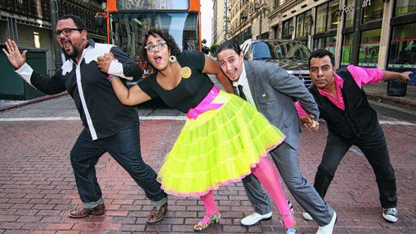 """Los Angeles-based La Santa Cecilia dedicated their Grammy Award to """"the more than 11 million undocumented people that live and work in this country."""""""