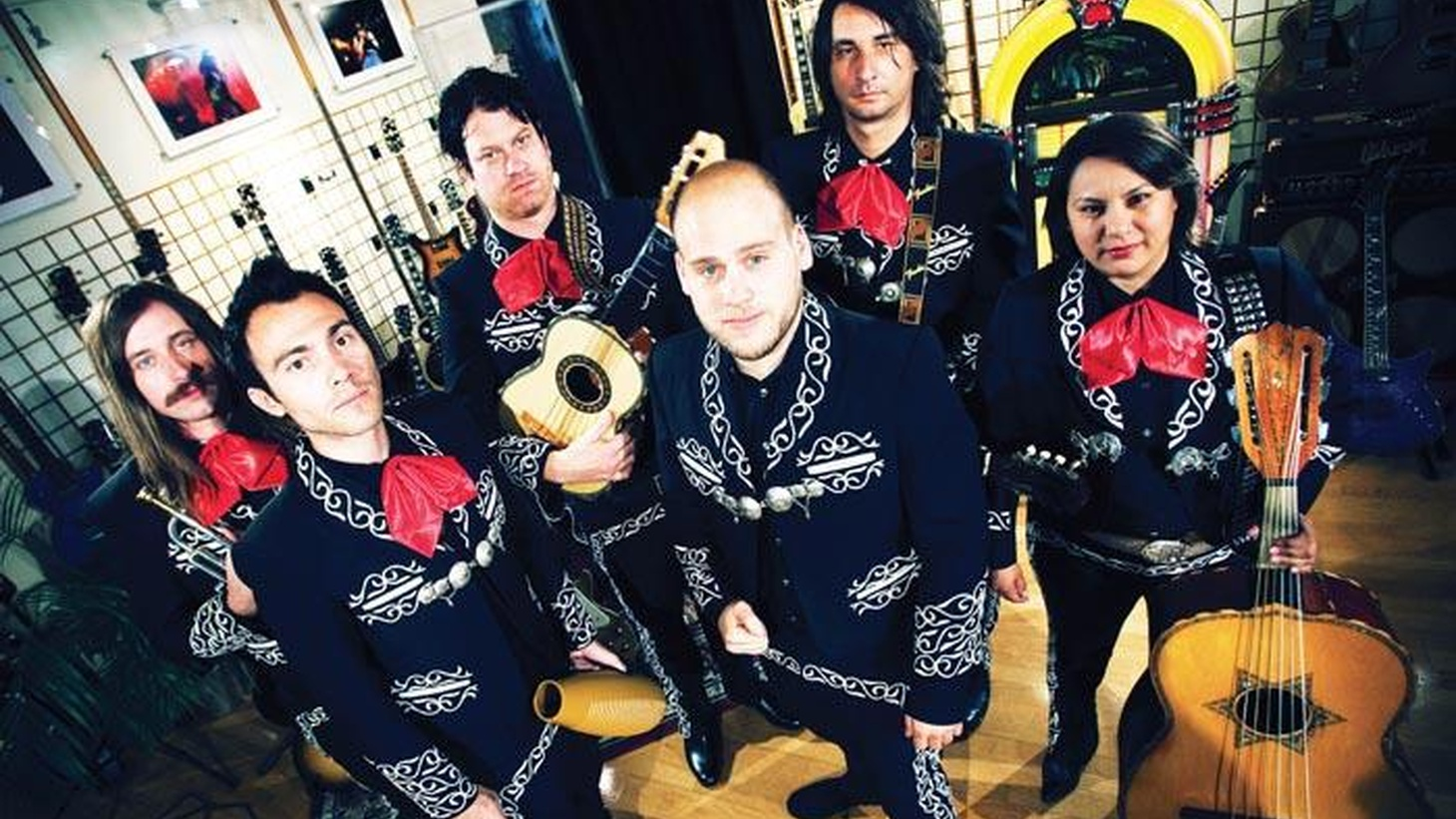 The alter ego of LA punk band the Bronx, Mariachi El Bronx melds the worlds of punk and traditional Mariachi music. Today's Top Tune is a prelude to KCRW's Halloween bash...