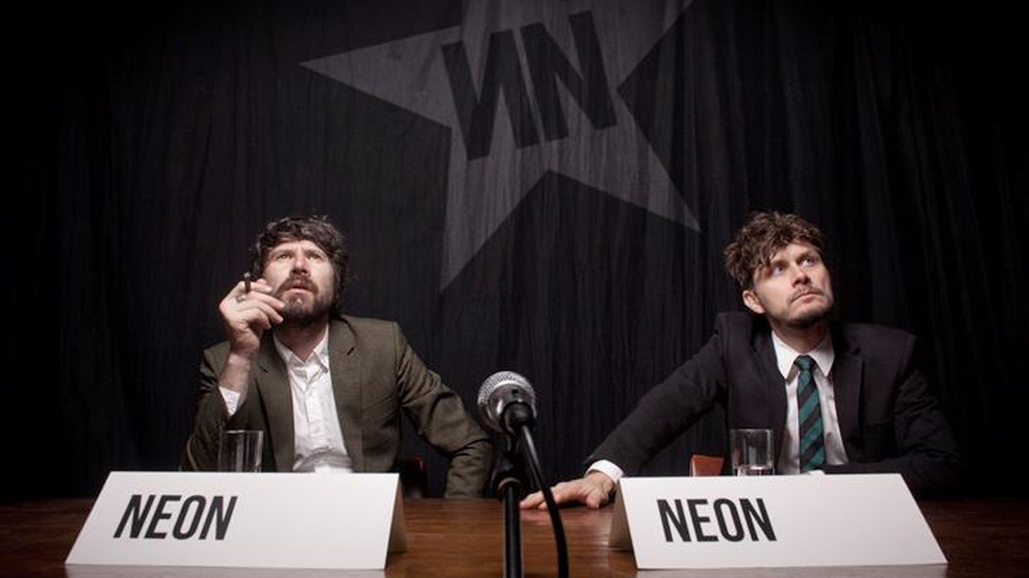 Gruff Rhys of Super Furry Animals joined with Boom Bip to form Neon Neon a few years back. They made their debut with a concept album about carmaker John DeLorean.