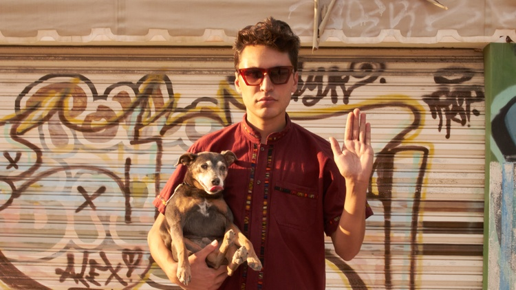 """Latinx crooner Nick Pagan's """"Hardly Use My Hands"""" is a down-tempo jam that draws from the '70s sound of John Lennon, David Bowie, and Neil Young, and taps into self-discovery."""