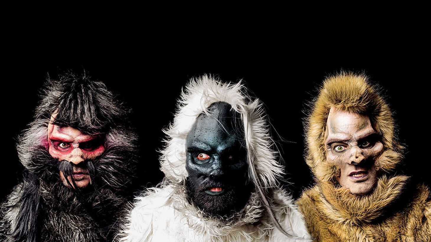 Dressed like three giant yetis PPL MVR make quite the impression. Based in Los Angeles, these mountain men are attracting loads of attention with their catchy songs as well.