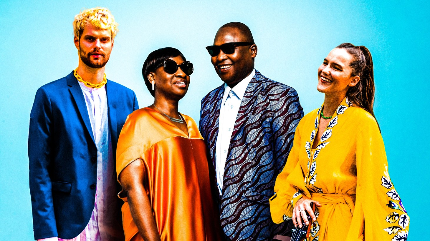 """A cross-continent, cross-genre collaboration between Bomako-born artists Amadou & Mariam and dance floor duo Sofi Tukker transcends barriers with singing in Portuguese, Bambara, and French on the euphoric track """"Mon Cheri."""""""
