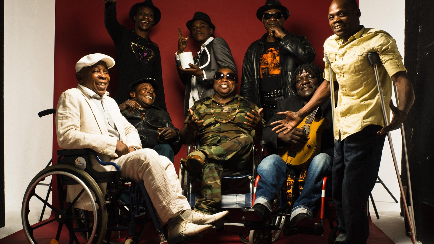 Staff Benda Bilili is a band made up entirely of Congolese paraplegic street musicians whose output reveals relentless energy combined with an optimistic outlook.