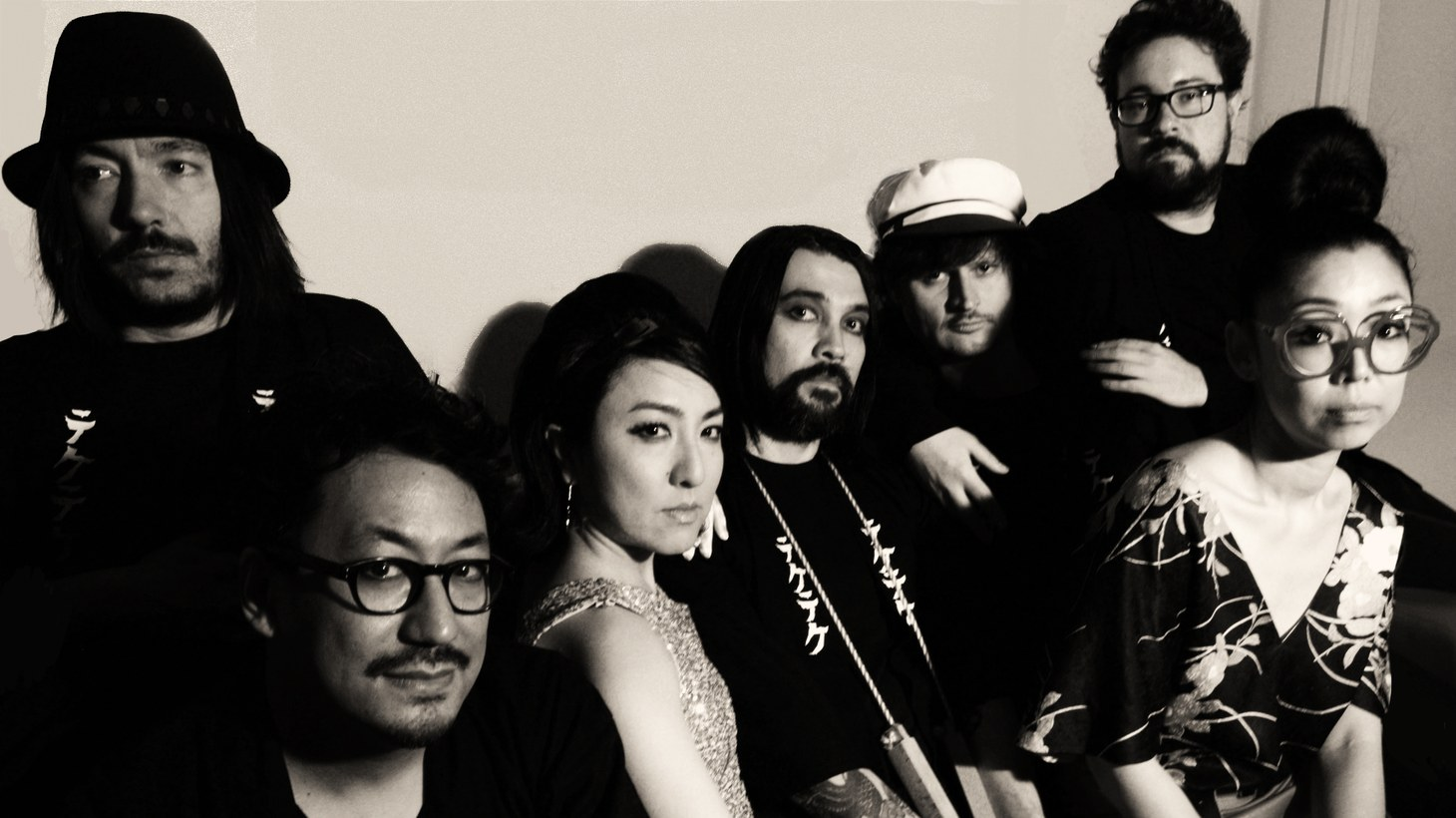 Check out the raw energy and sound of Montreal's seven piece East-Asian psych-punk band TEKE::TEKE. Led by visual artist and singer Maya Kuroki, this outfit plays traditional Japanese instruments up against raging guitars.