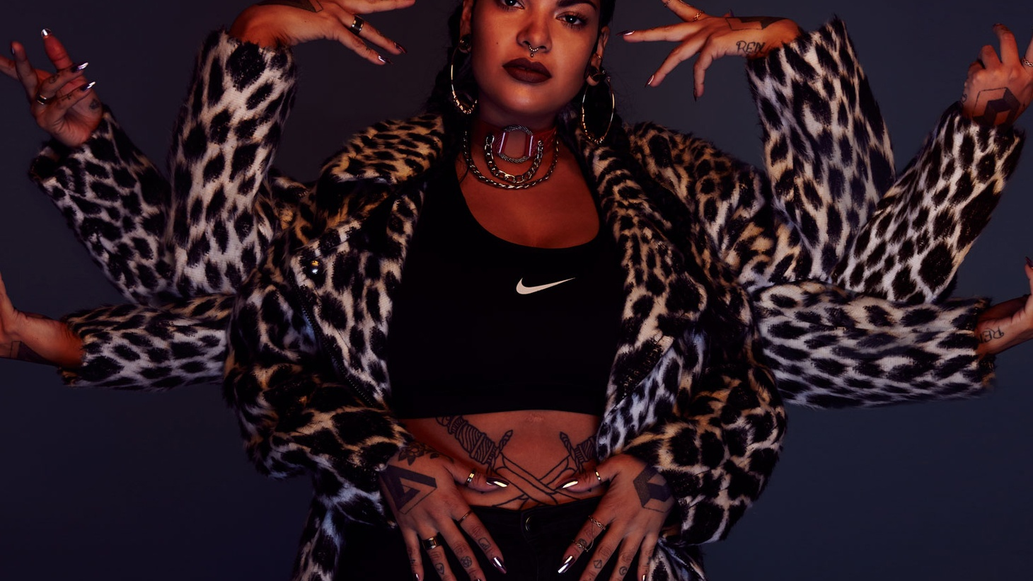 """Chilean rapper Tomasa Del Real was a sought after tattoo artist in her native Chile, before she turned """"Queen of Neo-Perro""""(the dance and culture that surrounds Reggaetón)."""