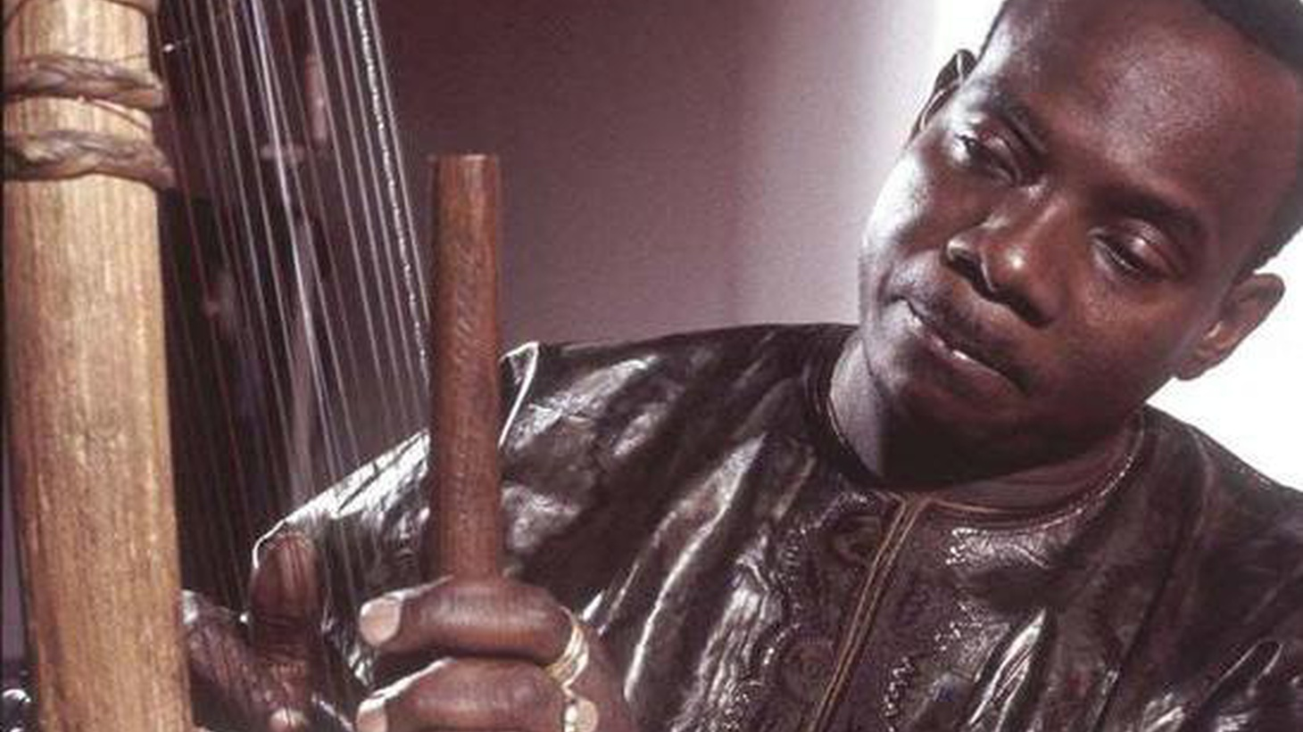 ...from The Mandé Variations.   Mali's Toumani Diabate comes from a long line of cora-playing ancestors. He's responsible for introducing the cora to a world audience...