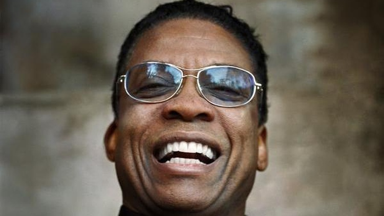 Herbie Hancock is a giant in modern music, a jazz titan who's nevertheless managed to achieve popular success as well. Lionized by musicians from both pop and jazz, he achieved fame as Miles Davis' pianist. He's produced and recorded with scores of musicians. He joins Tom at 1pm.