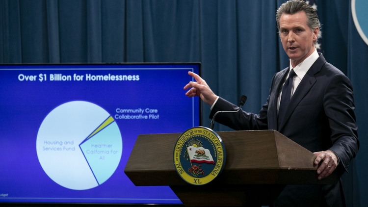 Gov. Gavin Newsom revised California's budget down to $203 billion Thursday as the coronavirus pandemic batters the state with record job losses and shortfalls.