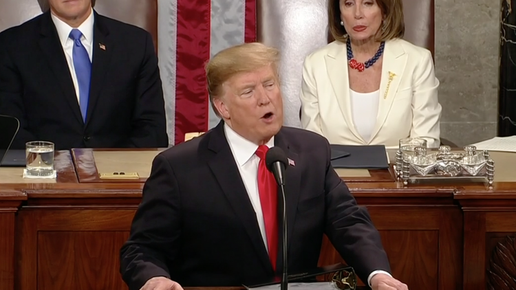President Trump is delivering his State of the Union address Tuesday night, a speech that had been delayed during the government shutdown.