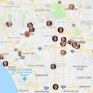 Mapping the 2020 presidential candidates in LA