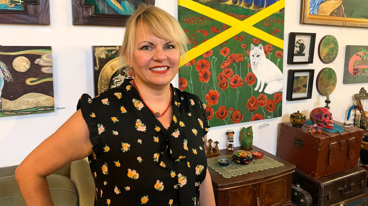 Eva Pietraszak at her art studio.