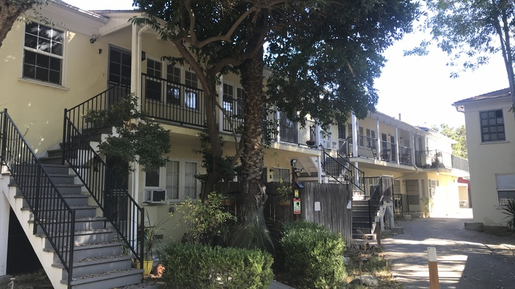 Two-bedroom units in Pasadena often sell for $700,000. So how could one cost $75,000? Caltrans owns it.
