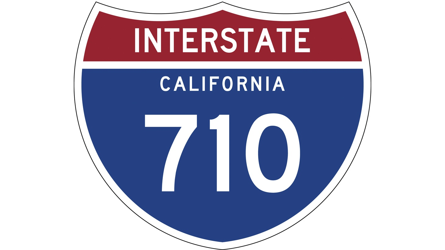 The I-710 sign.