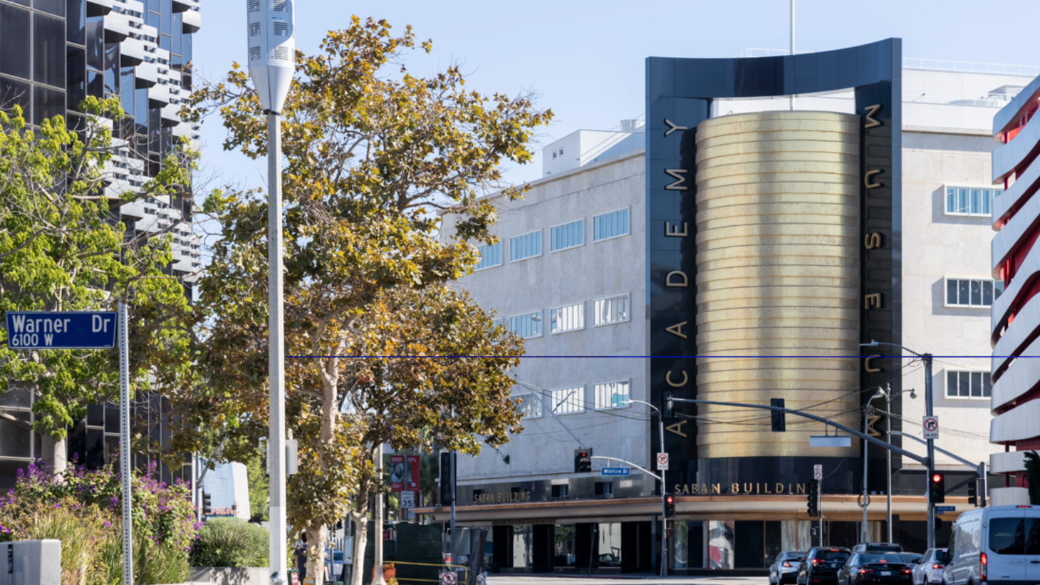 The Academy Museum of Motion Pictures pairs old and new construction at Wilshire Blvd. and Fairfax Ave.