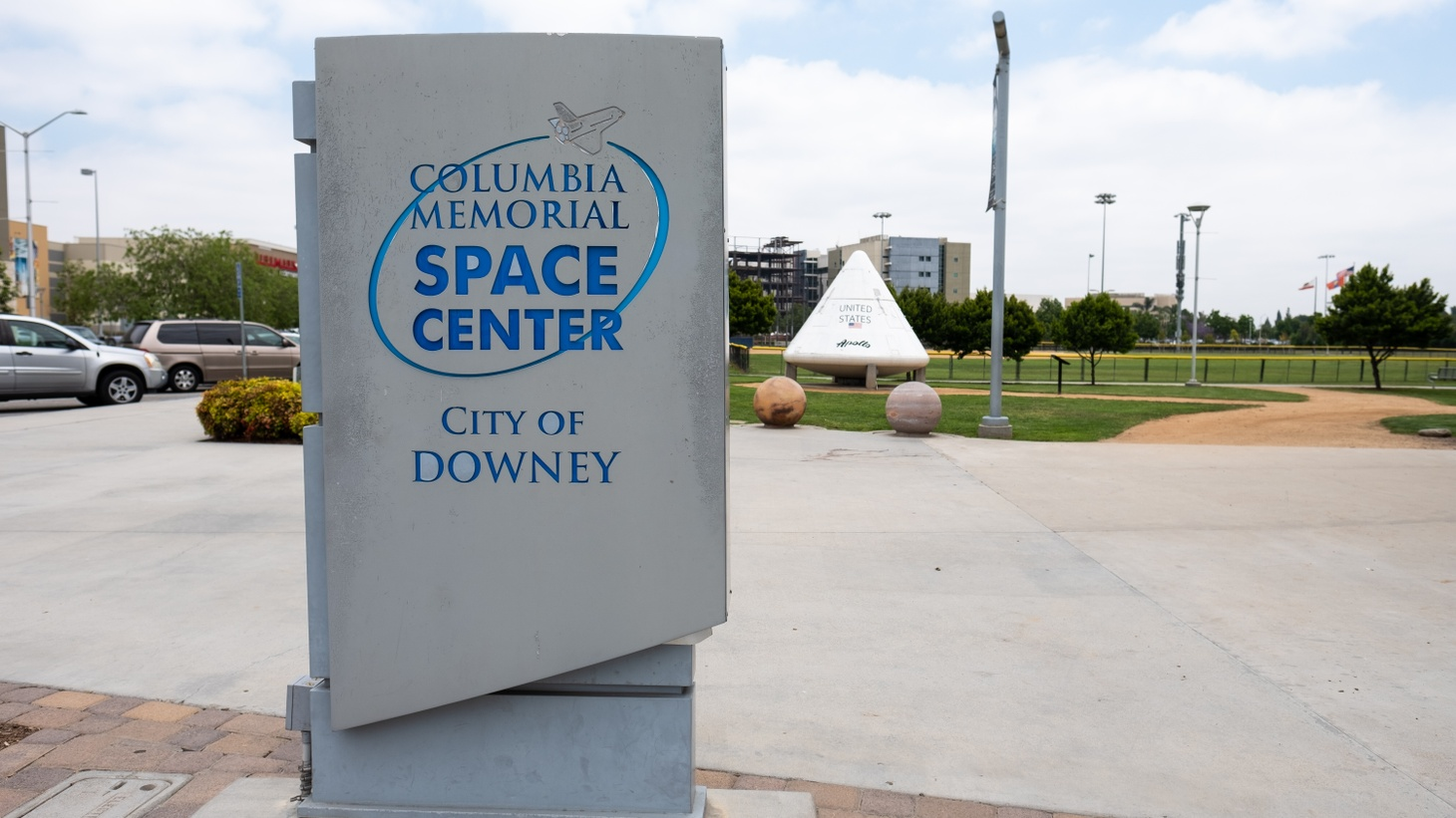 The exterior of the Columbia Memorial Space Center.