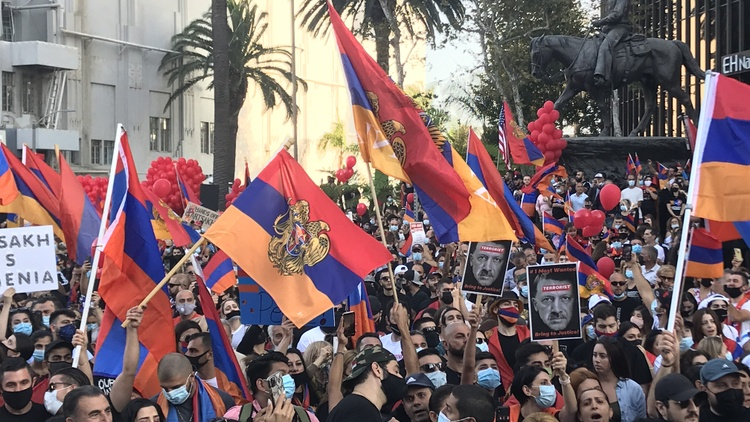 Pro-Armenia demonstrations across Los Angeles