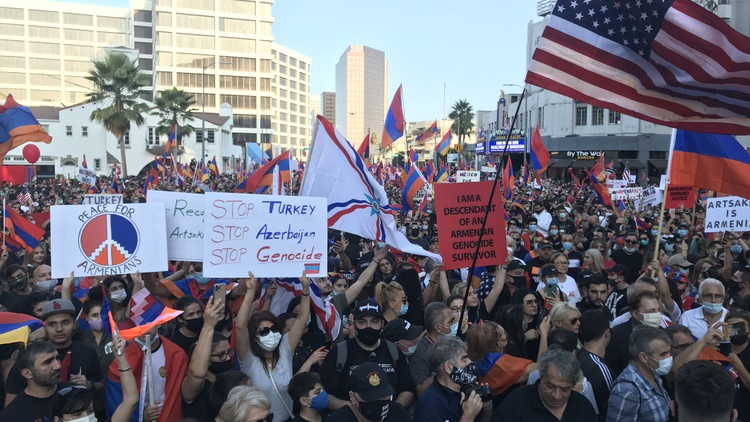 For weeks, pro-Armenia demonstrators have donated their money, packed church parking lots, and shut down traffic on city streets across Los Angeles County.