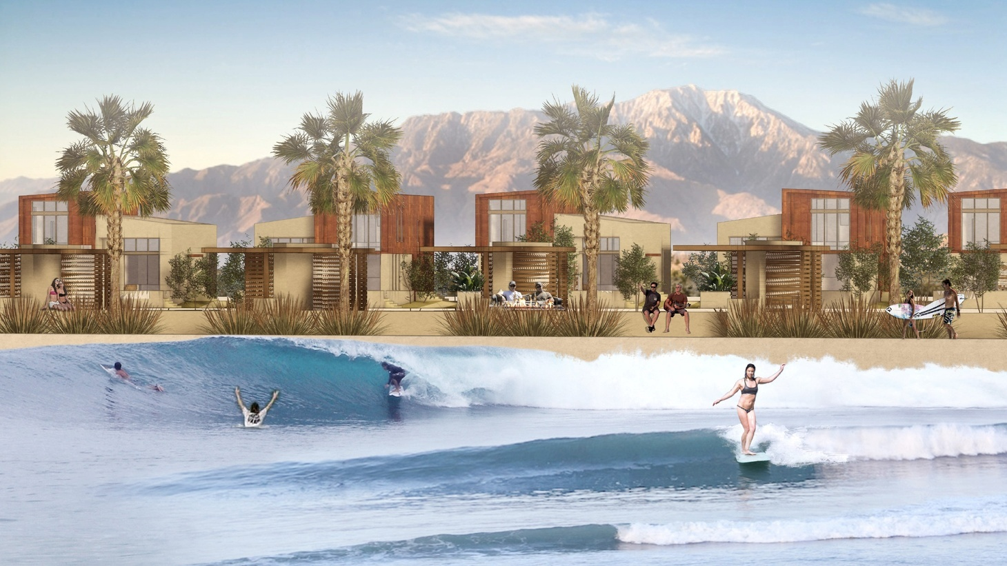 DSRT Surf is going to be an 18-acre resort with a large wave pool as its anchor. A hotel, residential villas, and two 18-hole golf courses will all be a part of the development in Palm Desert.