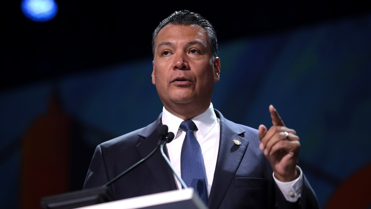Former Secretary of State Alex Padilla was sworn into the U.S. Senate this Wednesday by Vice President Kamala Harris.