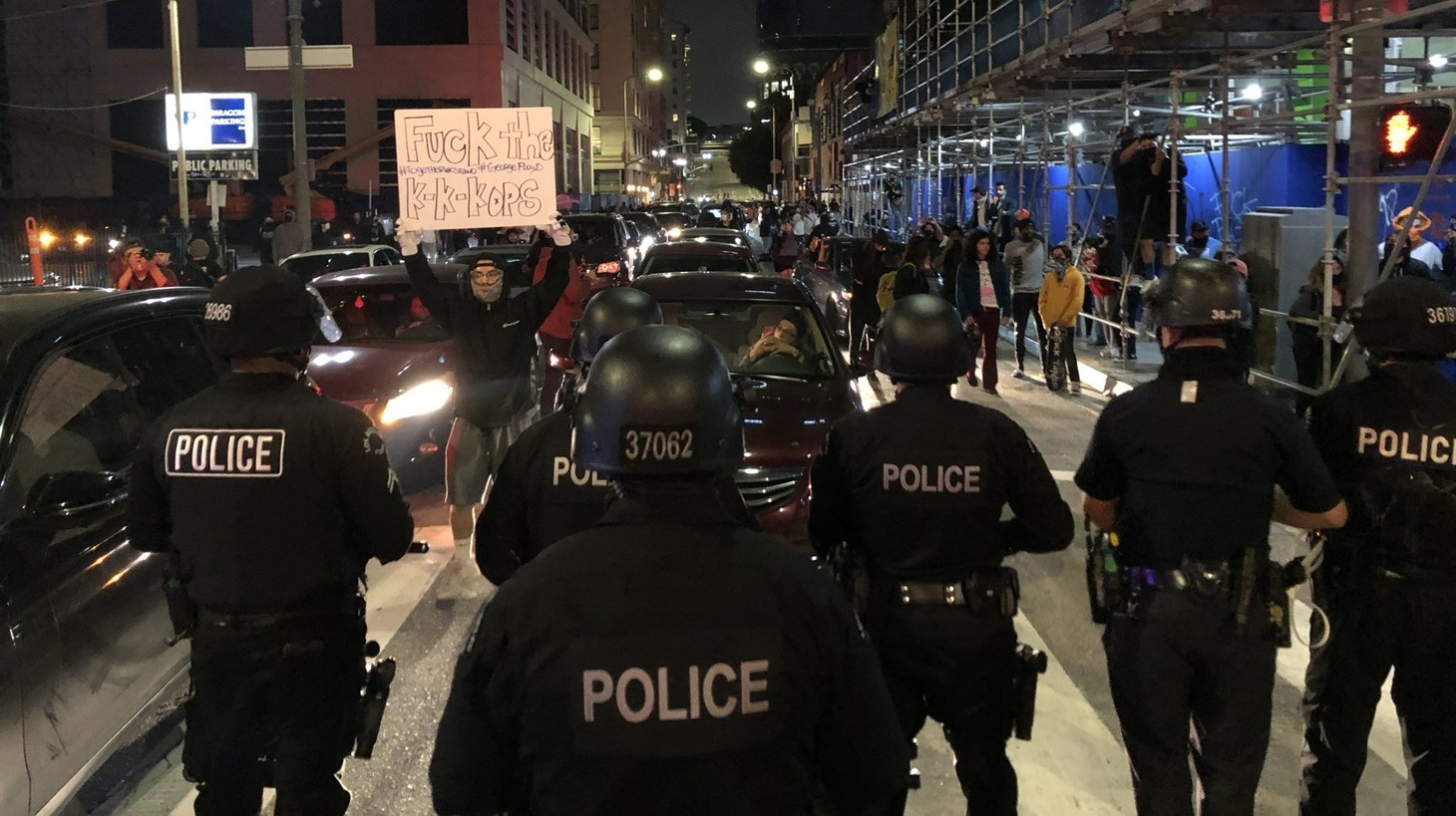 After many were arrested near City Hall, officers moved into other parts of downtown to disperse crowds and make more arrests.