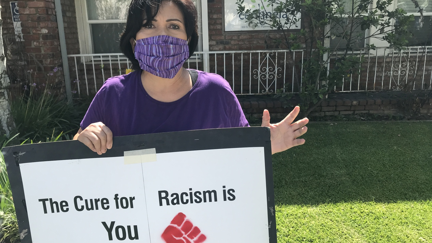 Brenda Baraquil took time off work to support the Strike for Black Lives.