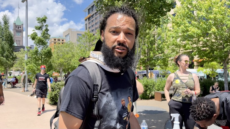 Orange County resident Ferin Kidd spent three days documenting the protests in Minnesota last year following the murder of George Floyd before returning to organize at home.