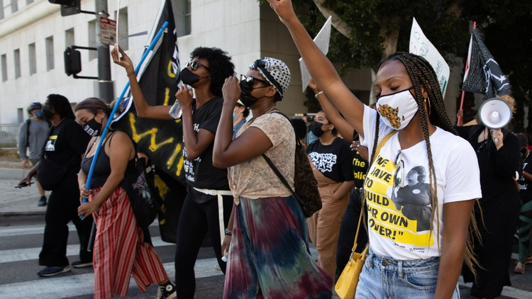 One year after the murder of George Floyd, an event that catalyzed racial justice movements across the country, organizers in LA gathered at City Hall to encourage activists to…