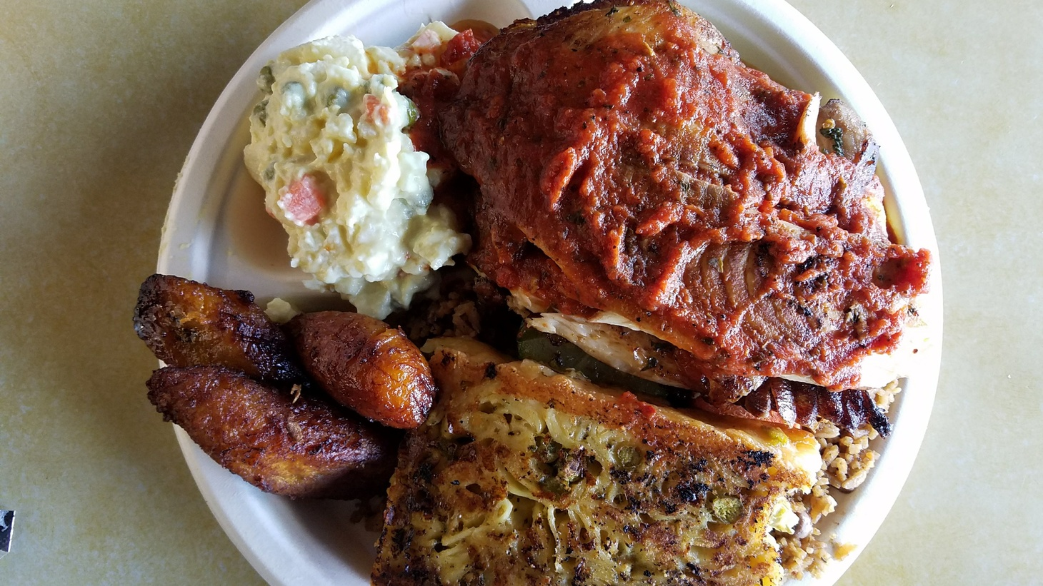 The blackened fish platter is Mona Holmes' favorite dish from Simply Wholesome.