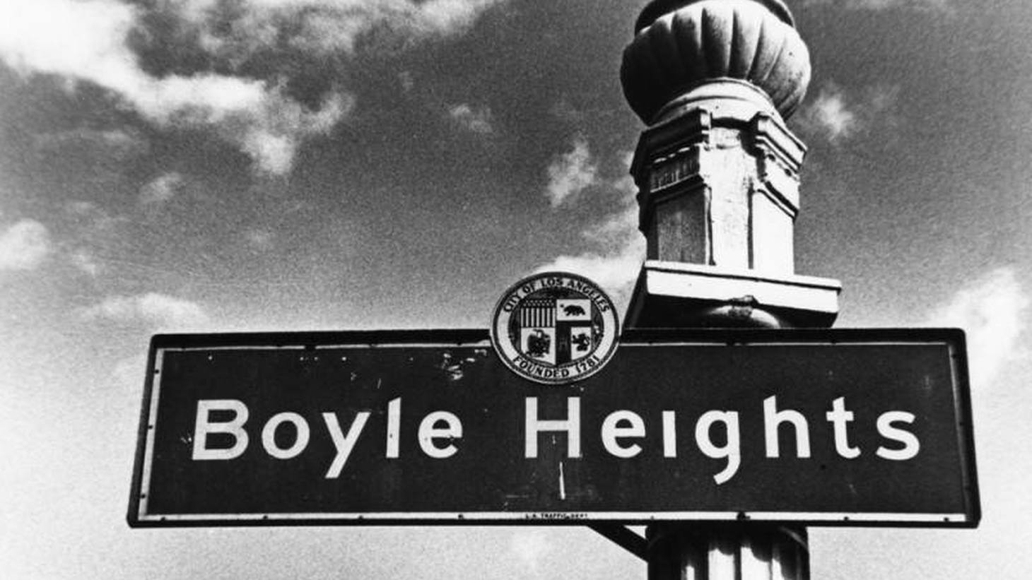 A Boyle Heights street sign is seen circa 1980.