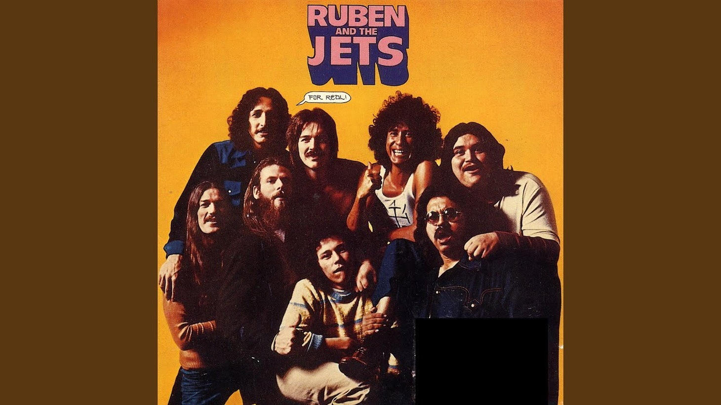 The cover for 'For Real!,' Ruben and the Jets' 1973 debut album produced by Frank Zappa.
