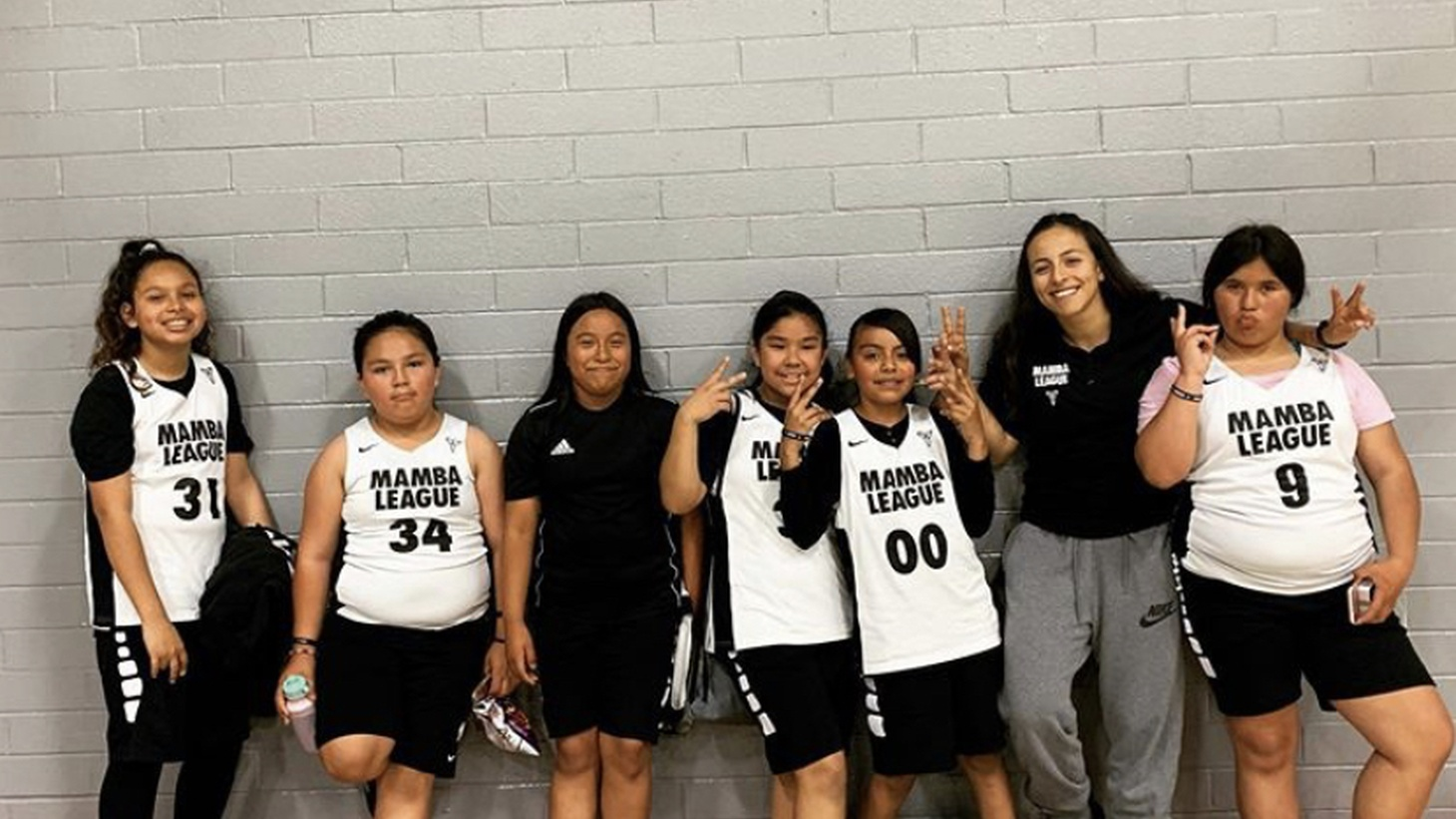 """Former Mamba League coach Natalie Gutierrez says, """"[Bryant's] inspiration and his dedication to the women's game, and [motivation] to help his girls develop and become the best versions of themselves, that's just one that has really stuck with me."""""""