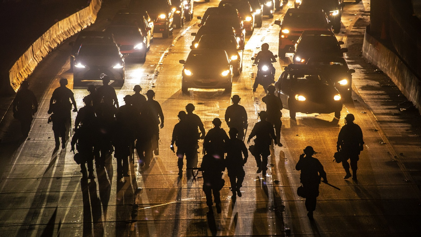 On May 29, demonstrators in downtown Los Angeles took over the 110 freeway and damaged several businesses in the area.