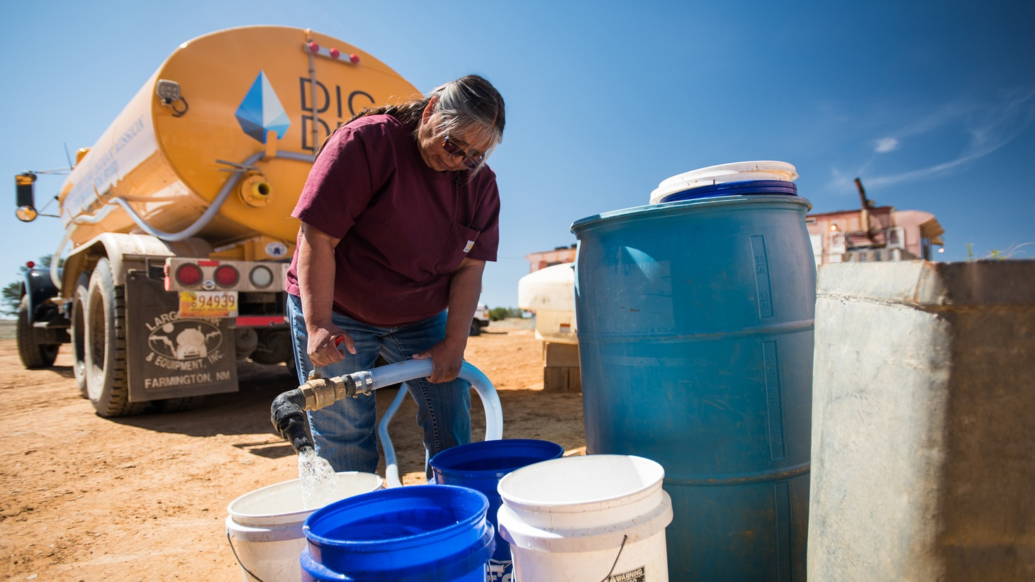"""In """"Where There Once Was Water,"""" Darlene Arviso works with DigDeep to deliver water to residents in remote areas of the Navajo Nation in New Mexico."""