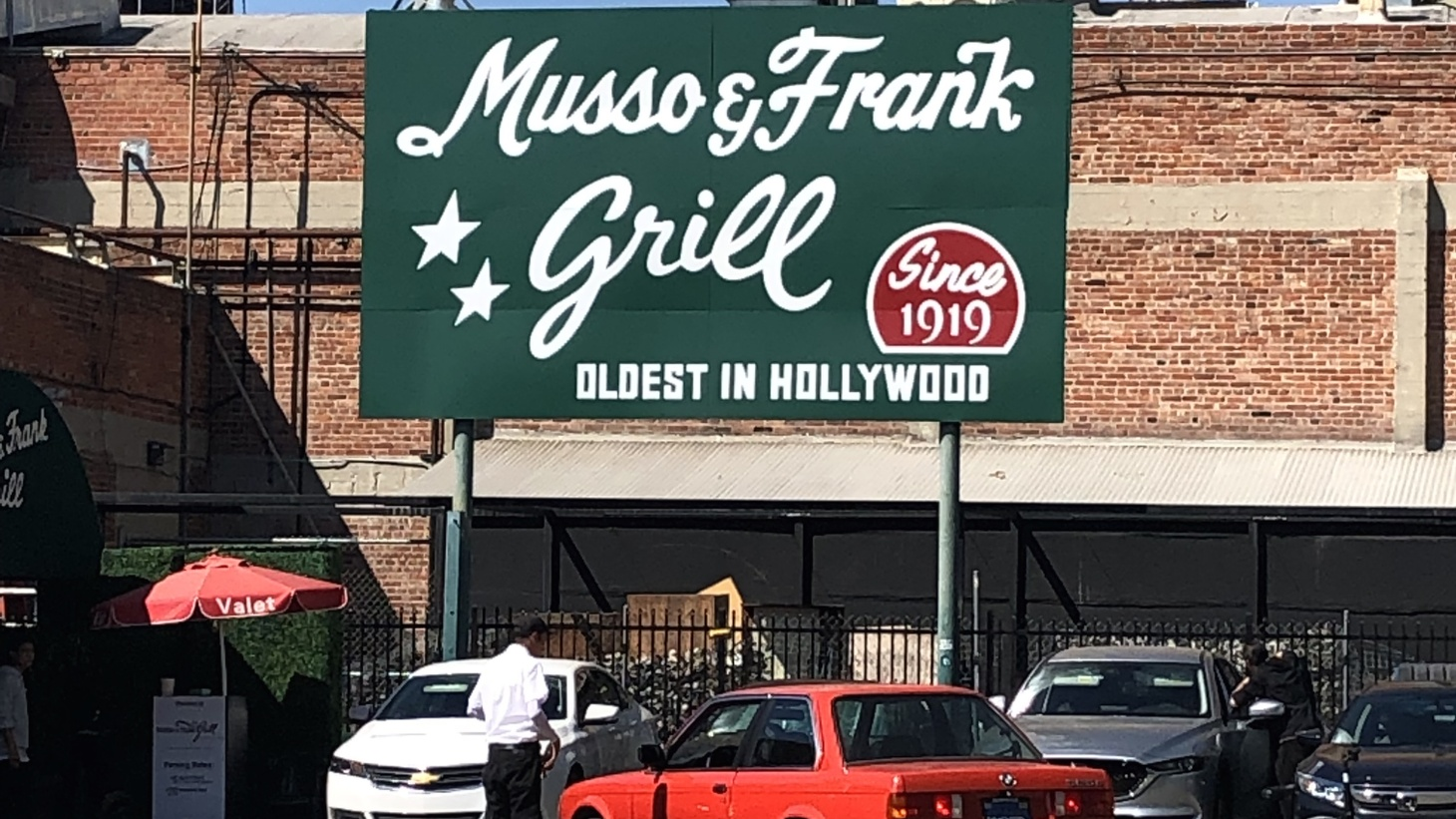 The exterior of Musso & Frank Grill.