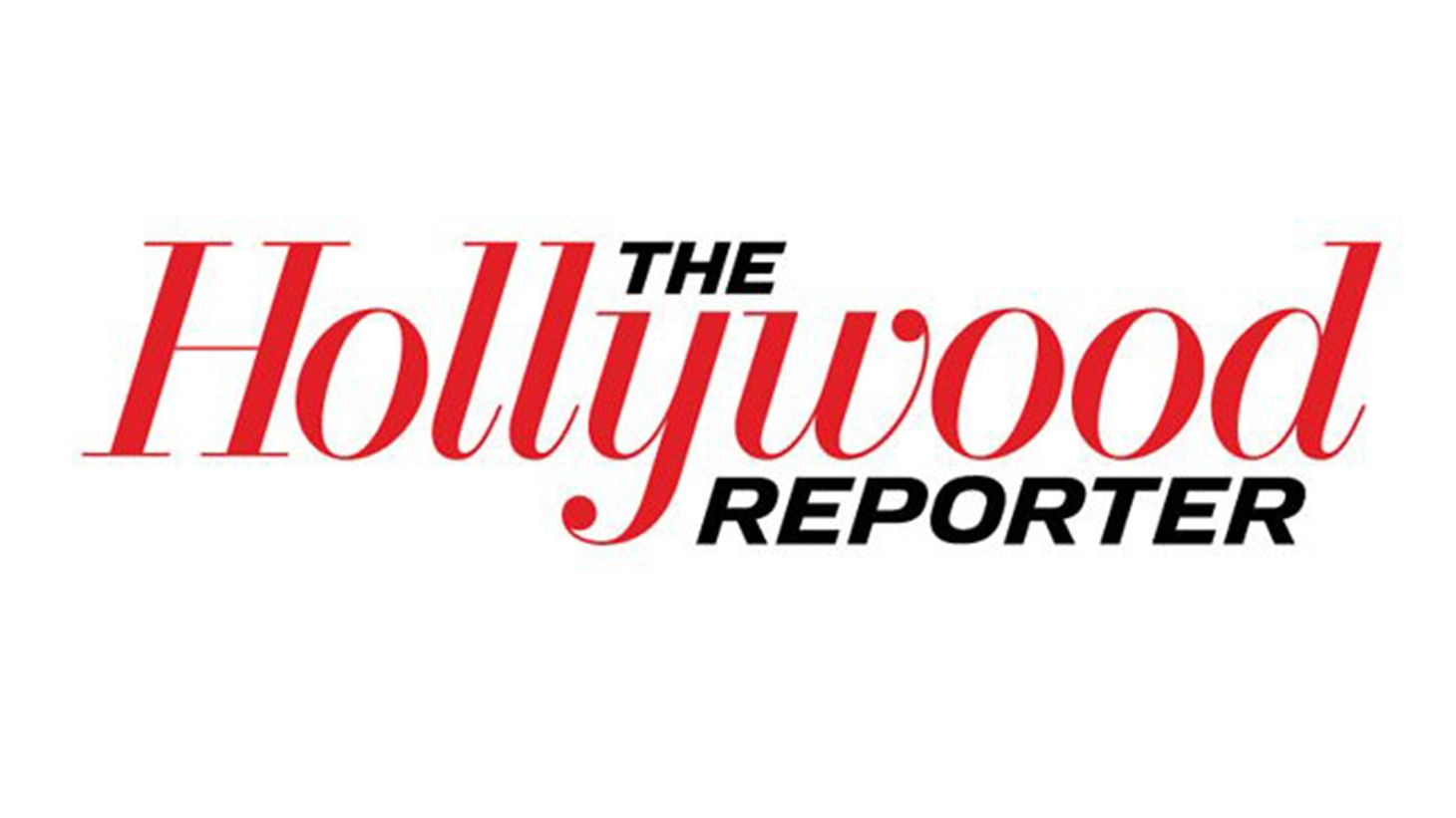 The logo of the magazine The Hollywood Reporter.