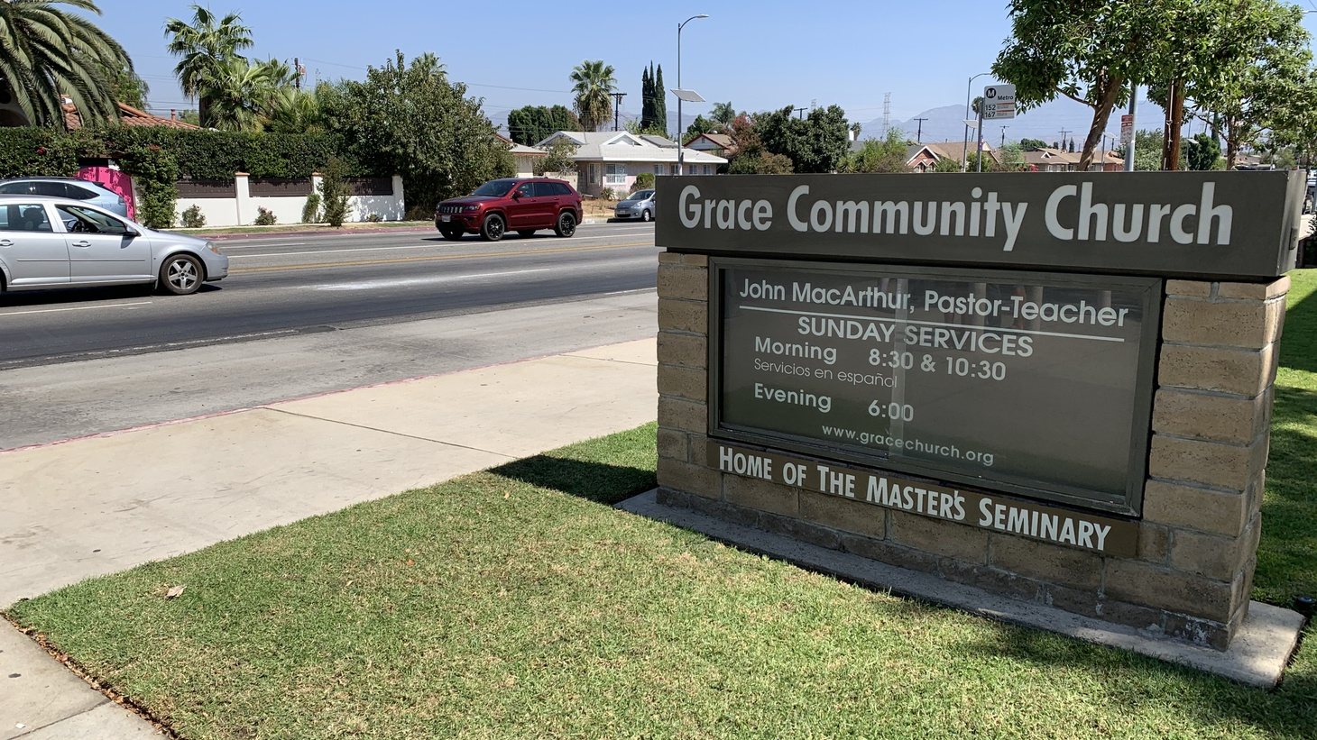 Grace Community Church is located in Sun Valley, California. Since July, there have been indoor, in-person services on weekdays and Sundays, despite public health officials ordering residents to wear masks and practice social distancing.