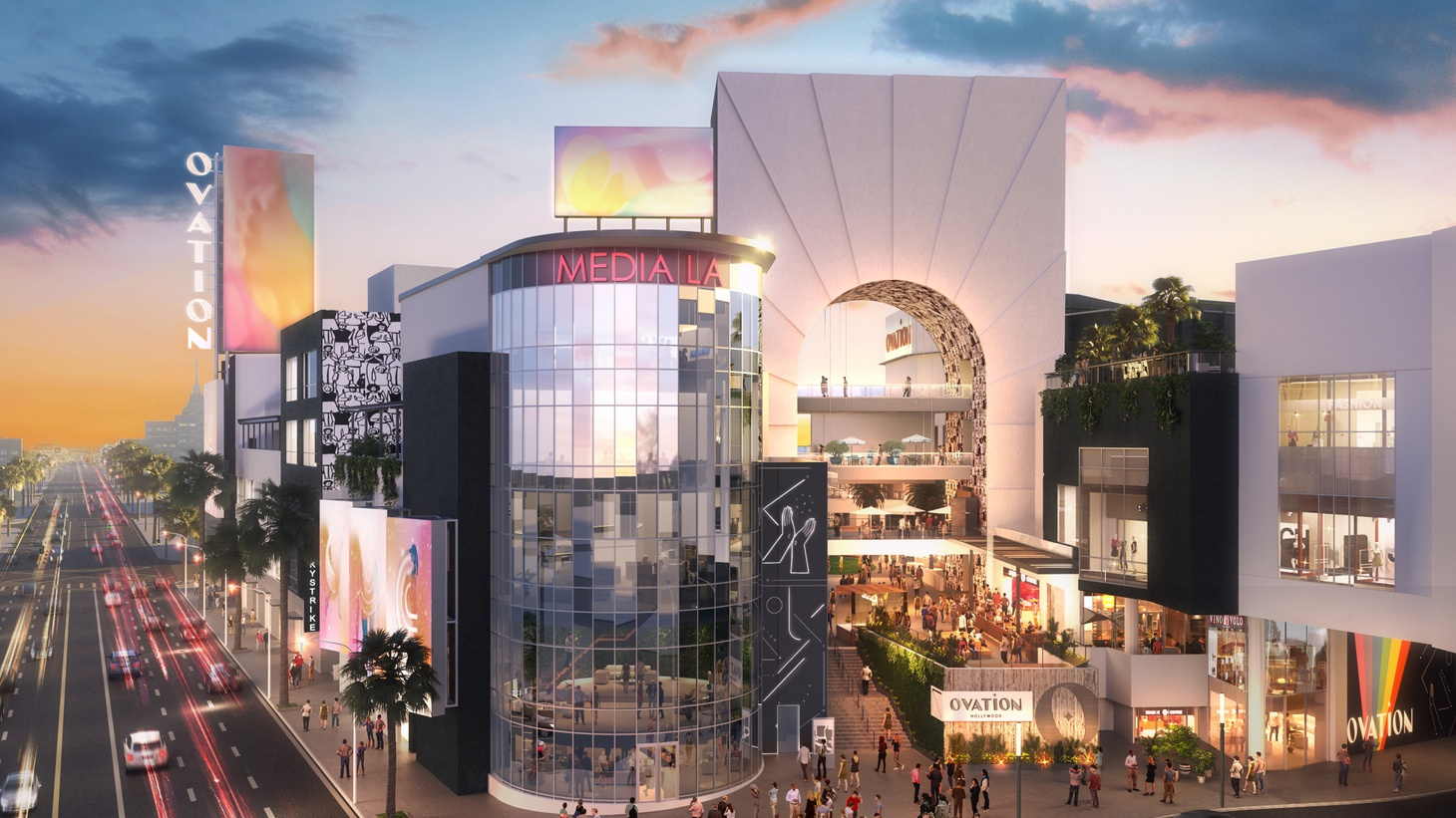 A rendering of the redesigned Hollywood and Highland retail and entertainment center, which will be called Ovation.