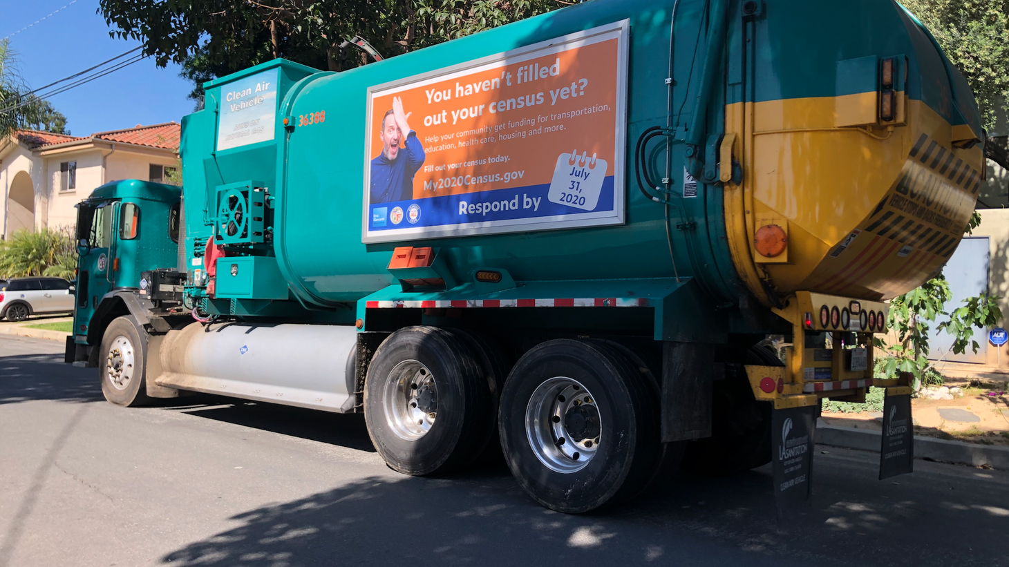 As people stay home during the pandemic, they're generating more waste. In the City of Los Angeles, garbage trucks have been authorized to pick up extra bags of trash in residential areas.
