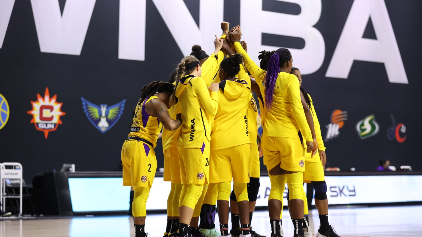 """It's so cool to see how hard the women in this league have worked to get to this point, and it's coming to life. And I don't take it for granted. And the season is just beginning, and it's going to be really amazing to see how it continues to blow up for people,"" says LA Sparks point guard Sydney Wiese."