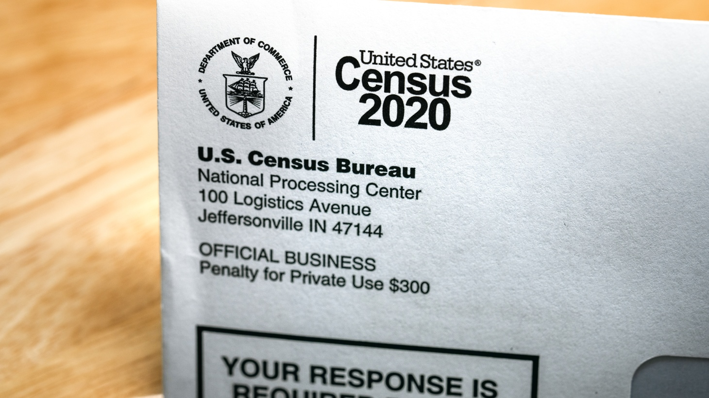 """A U.S. Census Bureau letter states, """"Your response is required by law."""" It contains a code to complete the 2020 Census."""