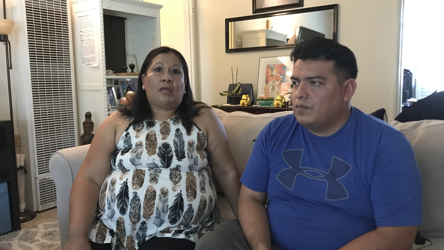 Esperanza and Sergio Corona de Rosas are among a small fraction of undocumented immigrants in California that have received COVID-19 disaster aid from California. Esperanza lost her job as a nanny, but she isn't eligible for state or federal unemployment due to her citizenship status.