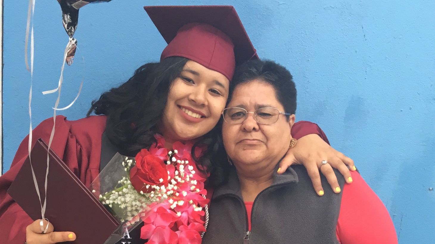 Lupe and her mom, Amalia. Her mom wasn't able to attend graduation because of her immigration status.