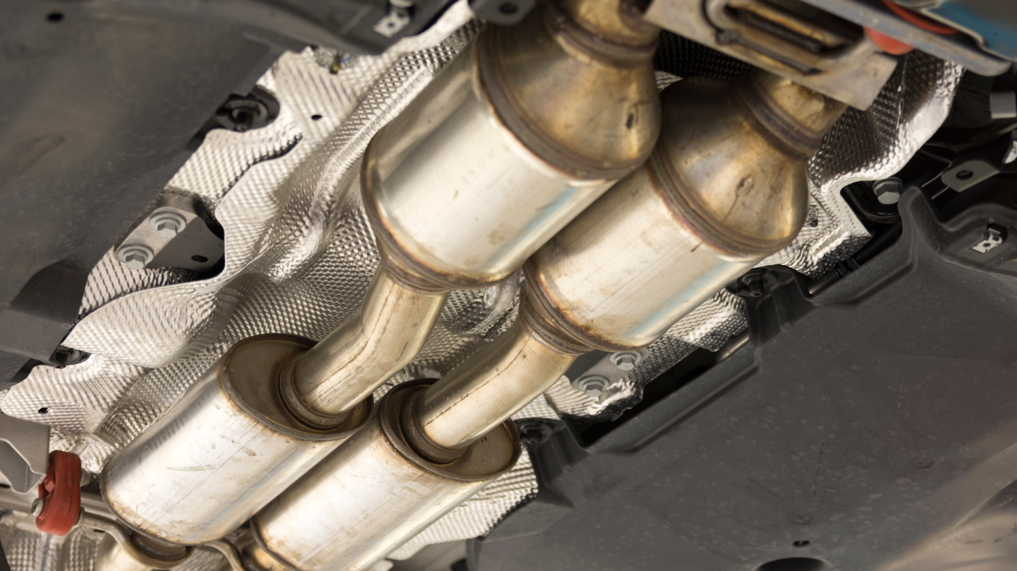 A catalytic converter reduces toxic emissions from a gas-powered car. The piece of equipment also has valuable metals, such as platinum, rhodium and palladium. Catalytic converter thefts in LA have jumped 400% since 2019, according to the Sheriff's Department.