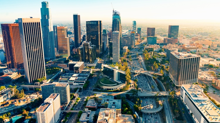 Urban centers across the world saw a mass exodus this past pandemic year. And downtown LA looked like a ghost town in 2020 and early 2021.